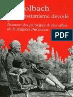 Baron D'Holbach - Le Christianisme Dévoilé