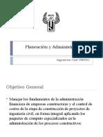 Planeación y Administración de Obras 01