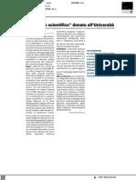 Un tesoro scientifico donato all'Università di Urbino - Il Resto del Carlino del 25 settembre 2021