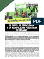 Alex Dolcino - El Poder, la delincuencia y la manipulación publicitaria en Ecuador