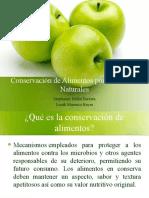 Conservación de Alimentos por Sustancias Naturales