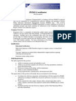 PEIMS Coordinator - Job Desc 4-5-2011