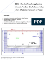 FEA Heat Transfer Applications, HW