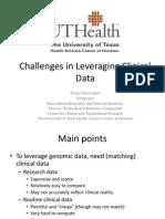 Elmer Bernstam - Challenges in Leveraging Clinical Data