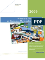 WEB SITE & Transparencia en Gobiernos Municipales Jalisco México Primer Semestre 2009.