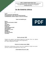 Modelo de história clínica completo