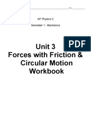 Circular Motion Problem | Force | Friction