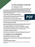 C5 LE PARTICELLE DELLA MATERIA SCIENZE