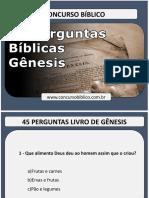 45 Perguntas biblicas com respostas livro de Gênesis