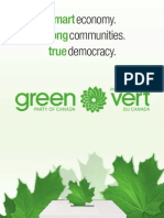 Green Party of Canada 2011 election platform
