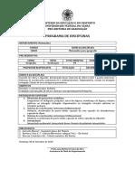 EMENTA DA DISCIPLINA CB685 matematica para geografia