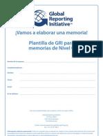 Modelo de Plantilla GRI Para Memorias de Sostenibilidad (Nivel C) - GRI, 2011