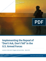 """Implementing the Repeal of """"Don't Ask, Don't Tell"""" in the U.S. Armed Forces"""