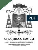 15º Domingo Comum - Posse de Dom João Inácio - 14 de julho (livreto)