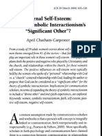 Internal Self-Esteem - God as Symbolic Interactionisms Significant Other