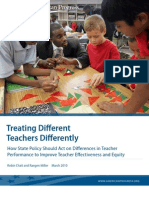 Treating Different Teachers Differently