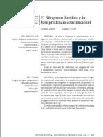 SILOGISMO Y JURISPRUDENCIA CONSTITUCIONAL