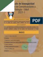 Cartilla- Protocolo Bioseguridad Facultad de Comunicaciones y Filología