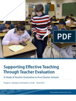 Supporting Effective Teaching Through Teacher Evaluation