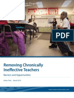 Removing Chronically Ineffective Teachers