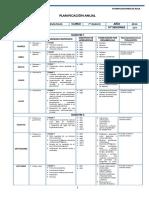 Matematicas Planificacion - 7 Basico 2021