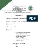 Informe Producto 3. LP4