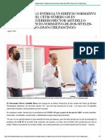 23-08-2021 Héctor Astudillo entrega un edificio Normativo de dos niveles del CETIS número 135 en Chilpancingo