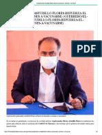03-08-2021 El gobernador Astudillo Flores refuerza el llamado a jóvenes a vacunarse