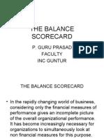 BALANCE SCORECARD- management control systems