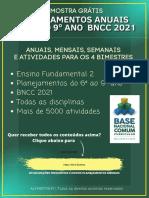 Planejamentos do 6 ao 9 ano BNCC 2021