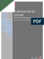 ELABORACION DE YOGURT