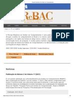 Revista Brasileira de Análise do Comportamento