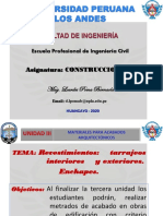 Revestimientos,Tarrajeos Interiores y Exteriores.