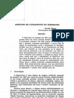 Aspectos do Fundamento do Esperanto