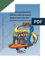 Materiales para prevenir la violencia contra las mujeres desde el marco educativo