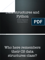 The Data Structures of Python