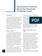 international financial reporting standards hedge funds