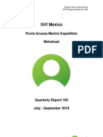 GVI Mexico Punta Gruesa Quaterly Report July - September 2010