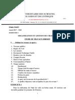 TD d'ORGANISATION ET GESTION DE CHANTIER