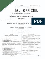 Discours de Badinter Au Sénat Pour l'Abolition de La Peine de Mort