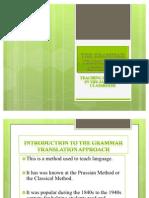 The Grammar Translation approach