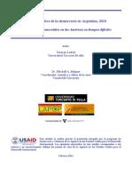 Cultura Política de la Democracia Argentina. 2010