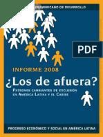 BID IPES2008 Los de Afuera - Patrones de la exclusion en AL y El Caribe