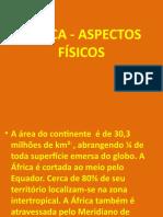 ÁFRICA - ASPECTOS FÍSICOS