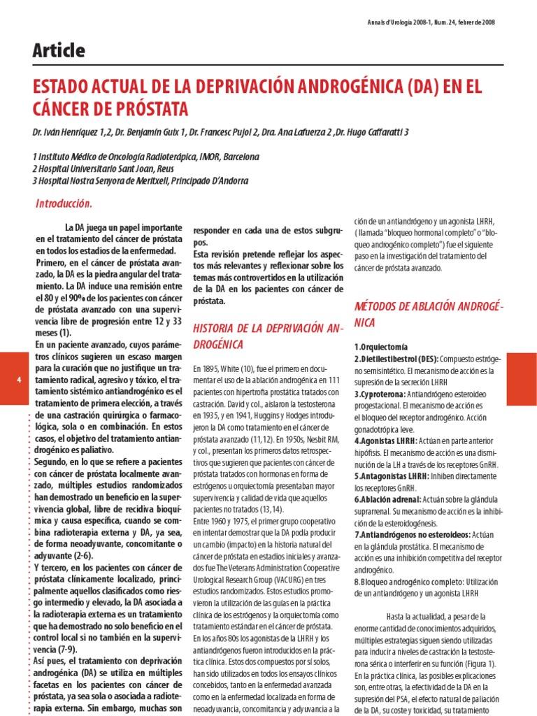 análogos lhrh cáncer de próstata