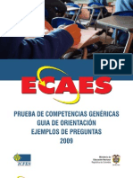 COMPETENCIAS GENERICAS EJEMPLOS ECAES