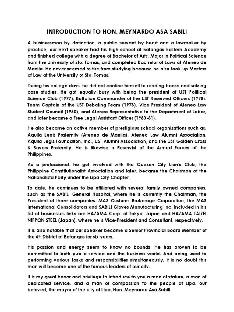 Sample Script of Graduation Ceremonies for EMCEE DEPED