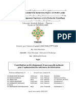 Contribution au développement d'une nouvelle méthode pour l'optimisation des tolérances de fabrication