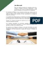 Investigacion que es un contrato Mercantil, tipos y caracteristicas.
