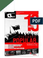 CUADERNO IDEOLOGICO Nº3 VICTORIA POPULAR 13 DE ABRIL 2002